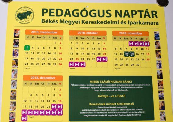 Diáknaptár és pedagógusnaptár Békés megyében