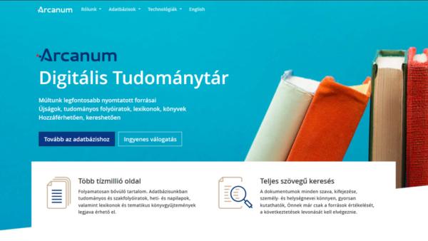 1 hónapig ingyenes elérhető az Arcanum Digitális Tudománytár